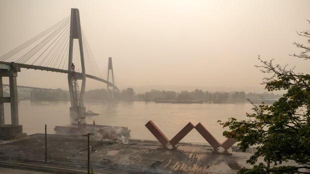 Air quality in New Westminster, B.C., worse than New Delhi as pier fire adds to wildfire smoke