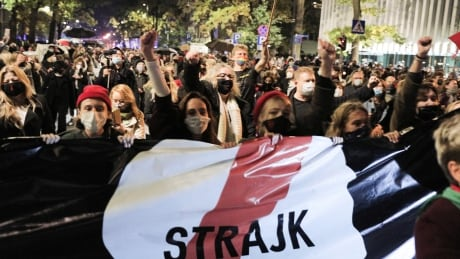 Protesters gather after Polish court supports almost total ban on abortion