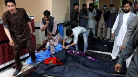 Suicide bombing in Kabul kills 18, including schoolchildren