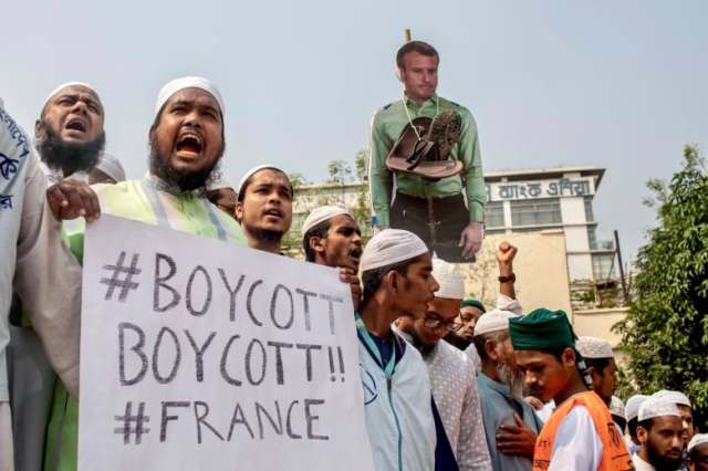 Muslim-majority countries protest, condemn France over Muhammad cartoons |  CBC News