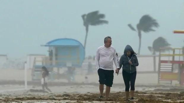 Tropical Storm Eta strikes Florida Keys; expected to become hurricane
