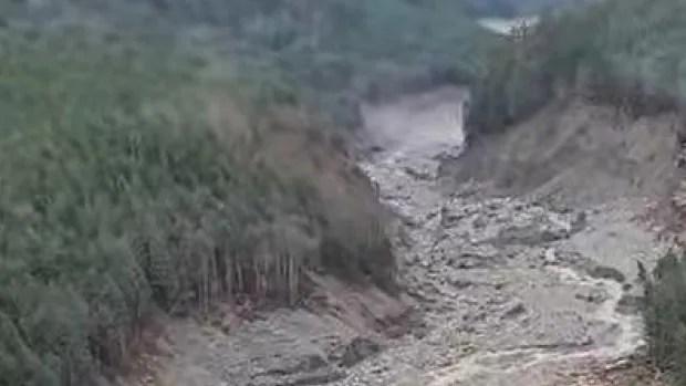 Landslide triggers massive debris cascade in remote part of B.C. coast   CBC News