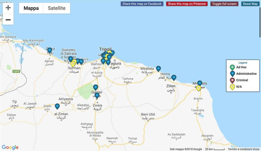 Gdp Mappa Libia Ovest