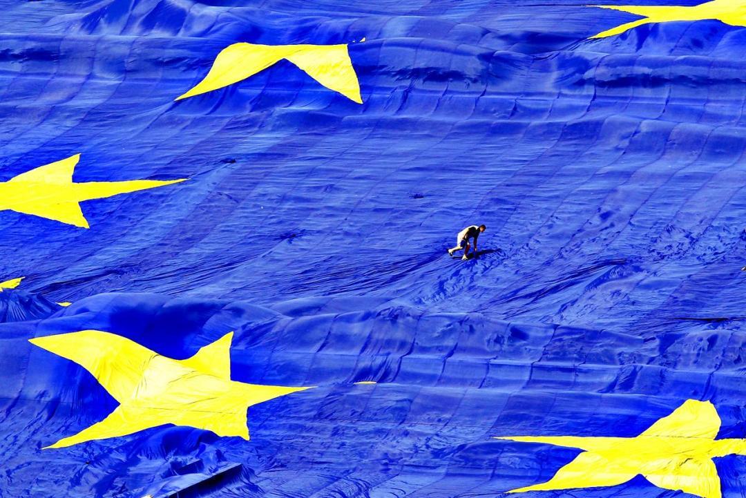 Europa Uomo Bandiera