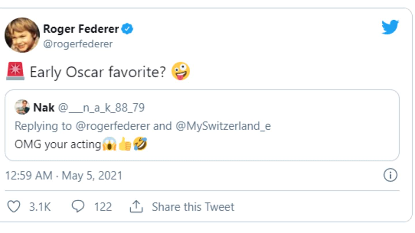As expected, netizens loved the ad, especially Federer's game