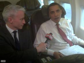 CNN's Anderson Cooper interviewed Obama Wednesday.