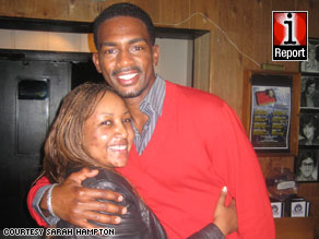 iReporter Sarah Hampton met Bill Bellamy at a comedy club in Atlanta, Georgia, last month.