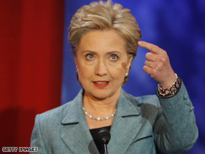 Hillary Clinton speaks during Wednesday's ABC debate.