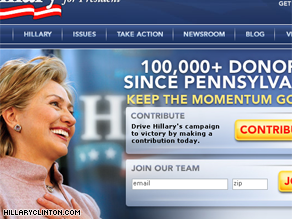 Clinton has seen an influx in campaign cash since winning the Pennsylvania primary.