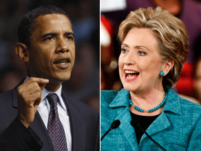 Obama and Clinton are locked in a dead heat.