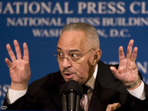 Rev. Jeremiah Wright addressed the National Press Club, Monday in Washington, DC.
