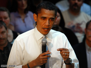 Barack Obama targeted McCain Friday.