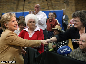 Hillary Clinton campaigns in Kentucky Monday ahead of the states primary.