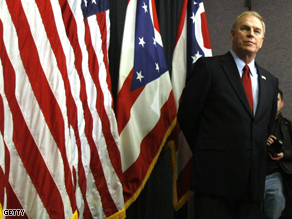 Ohio Governor Ted Strickland at a Clinton campaign event in March 2008.