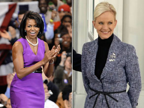 Michelle Obama and Cindy McCain (PHOTO CREDIT: GETTY IMAGES)