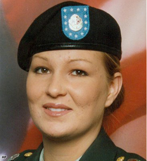 This undated photo, supplied by the U.S. Army, shows Spc. Megan Lynn Touma, 23, whose body was found Saturday morning, June 21, 2008, in a Fayetteville, N.C., motel room.