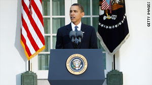 President Obama speaks at the White House on October 9 after receiving the Nobel Peace Prize.