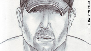 Michigan State Police released this composite sketch of the suspect in the Flint-area stabbings, which began in May.
