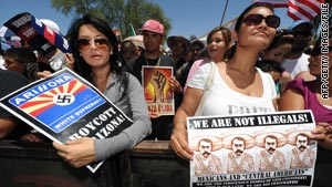 Arizona's immigration law has drawn many protests such as this one in Phoenix in May.
