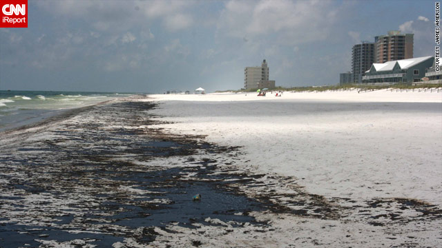 Oil soaks miles of Pensacola Beach - June 23, 2010 (CNN IReport Photo )