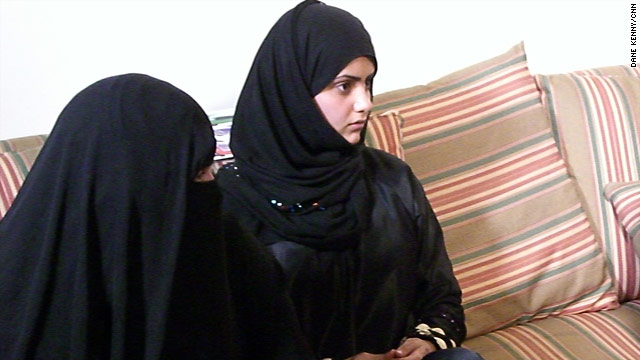 Reem, right, sits with her mother as she tells how she was forced into marriage at 11.