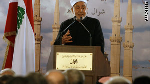 Sheikh Mohammed Sayed Tantawi at the opening of a mosque in Beirut