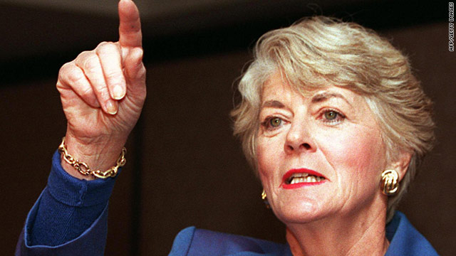 Geraldine Ferraro, pictured in 1998, was the first woman on the presidential ticket of either major party.