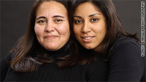 Monica Alcota, left, of Argentina and Cristina Ojeda, a U.S. citizen, were married in Connecticut last year.