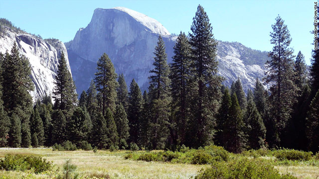 A man fell Monday off Half Dome, Yosemite National Park's renowned granite formation in the Sierra Nevada.