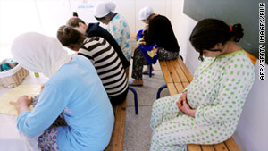 Young mothers and pregnant women take refuge in a protection unit in Casablanca, Morocco.