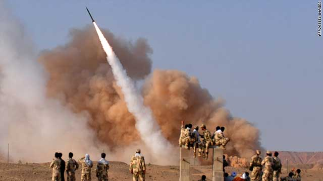 Iran's Islamic Revolutionary Guards Corps test Tuesday a ballistic missile Zelzal during military drills at an undisclosed location.