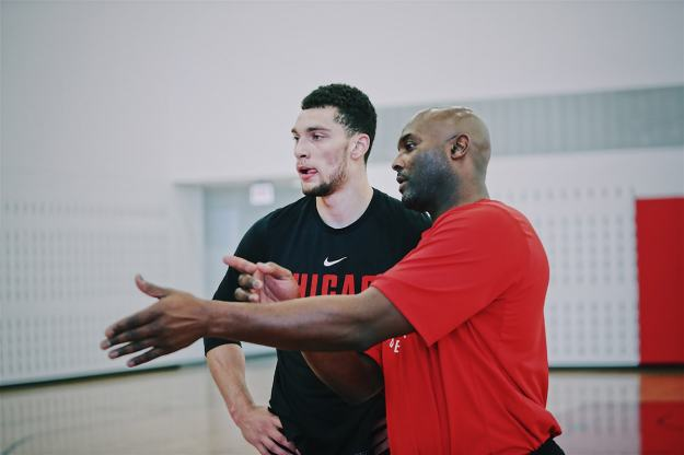 Zach Lavine during a workout with the Windy City Bulls