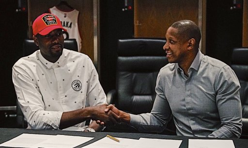 Image result for Raptors resign Serge Ibaka and Kyle Lowry