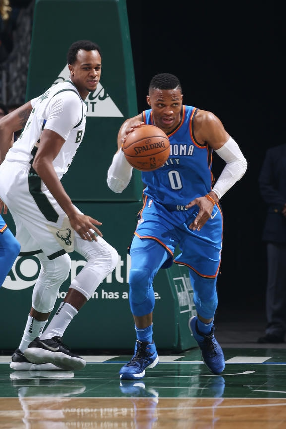Oklahoma City Thunder v Milwaukee Bucks