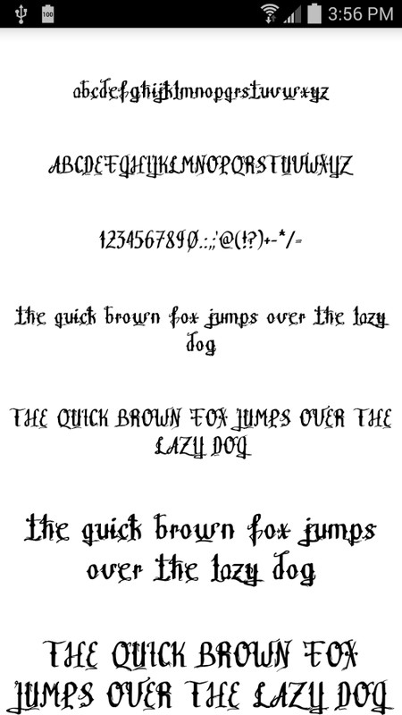 Download Fonts for FlipFont Tattoo APK Free Android App download ...