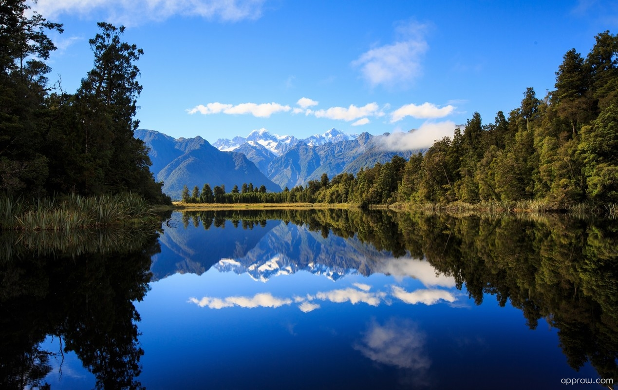 Lake Matheson New Zealand Wallpaper Download Lake