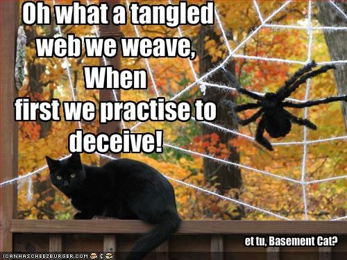 Oh What A Tangled Web We Weave When First We Practise To Deceive