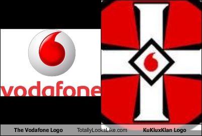 The Vodafone Logo Totally Looks Like Kukluxklan Logo Cheezburger