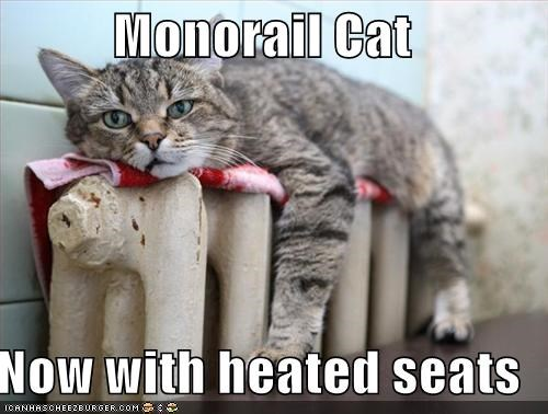 Monorail Cat Now With Heated Seats Cheezburger Funny Memes