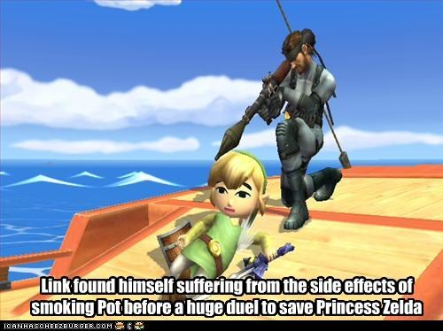 Link Found Himself Suffering From The Side Effects Of Smoking Pot