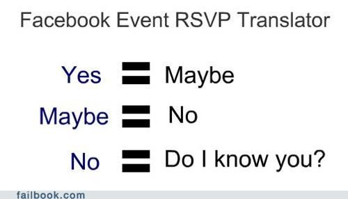 What Your Rsvp Really Means Failbook Failing On Facebook