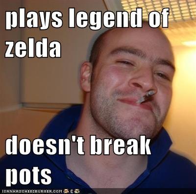 Plays Legend Of Zelda Doesn T Break Pots Memebase Funny Memes