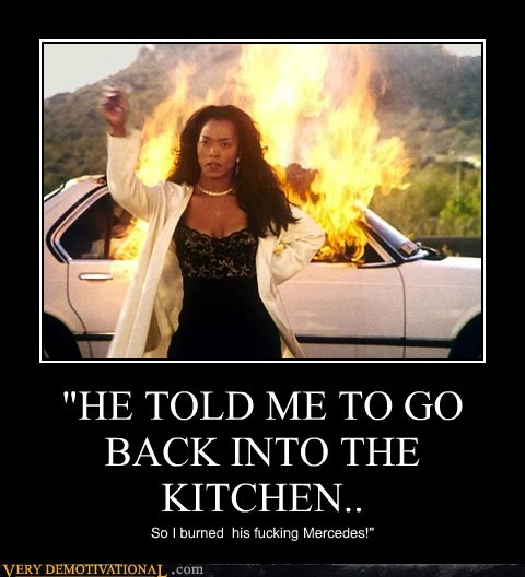 He Told Me To Go Back Into The Kitchen Very Demotivational