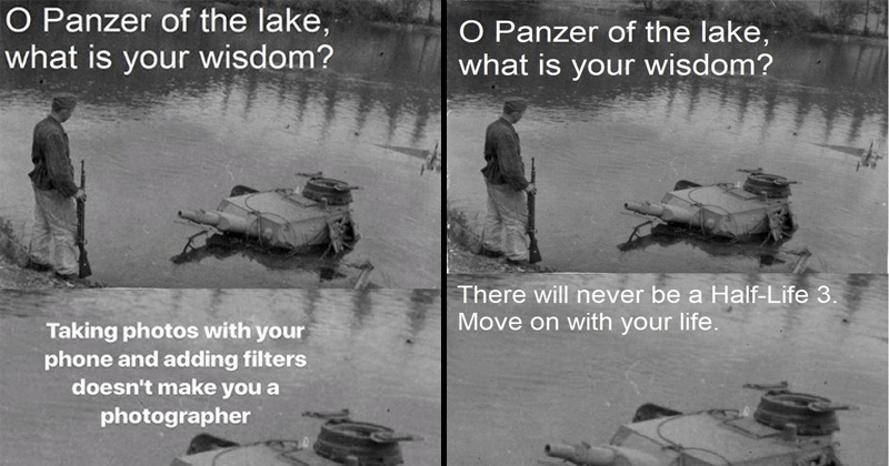 Memers Are Asking This Drowned Panzer For Inconvenient Truths