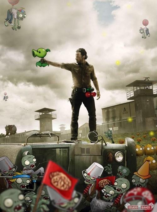 The Walking Dead Plants Vs Zombies Memes Of The Walking Dead