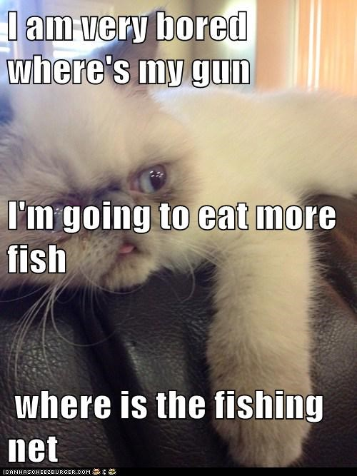 I Am Very Bored Where S My Gun I M Going To Eat More Fish Where Is