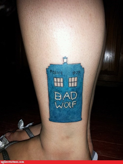 Ugliest Tattoos Doctor Who Bad Tattoos Of Horrible Fail