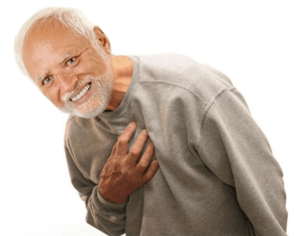 Hide The Pain Harold Old Guy Stock Photo Model Tortured Soul