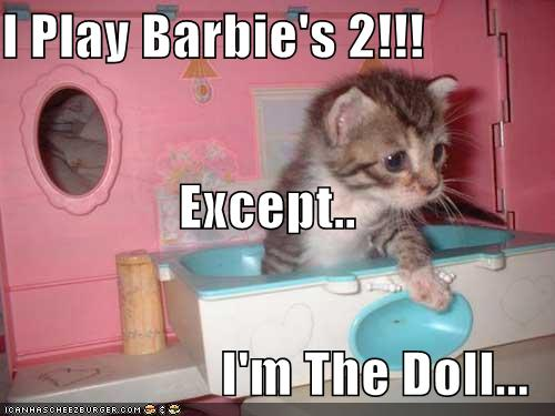 I Play Barbie S 2 Except I M The Doll Cheezburger