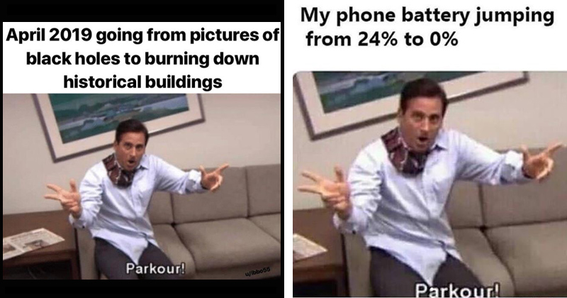 The Parkour Meme From The Office Is Making Its Rounds Again